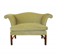 A93 Chippendale Roll Arm Settee